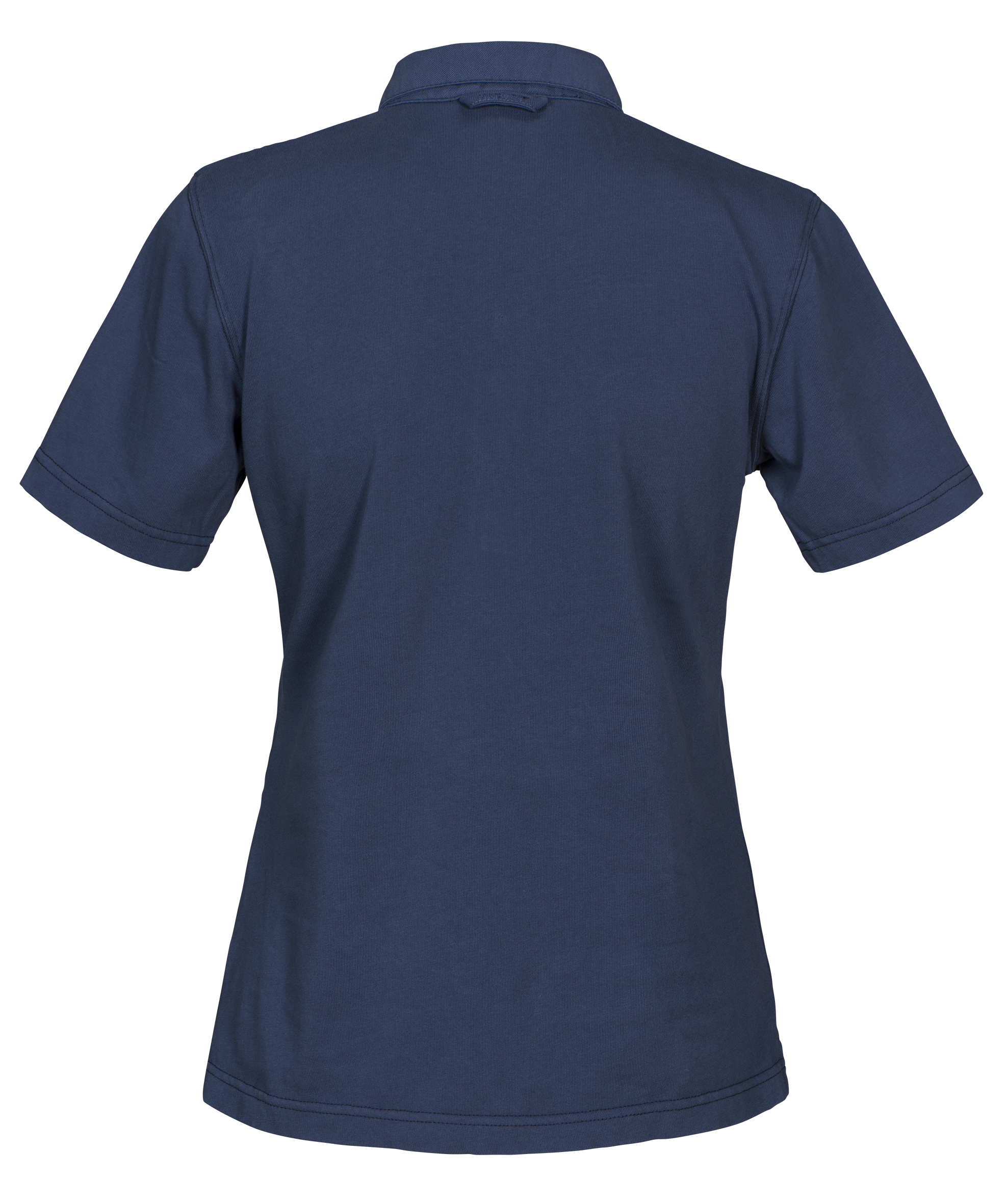 Amherst Ladies Polo in 555 Faded Blue (Back View)