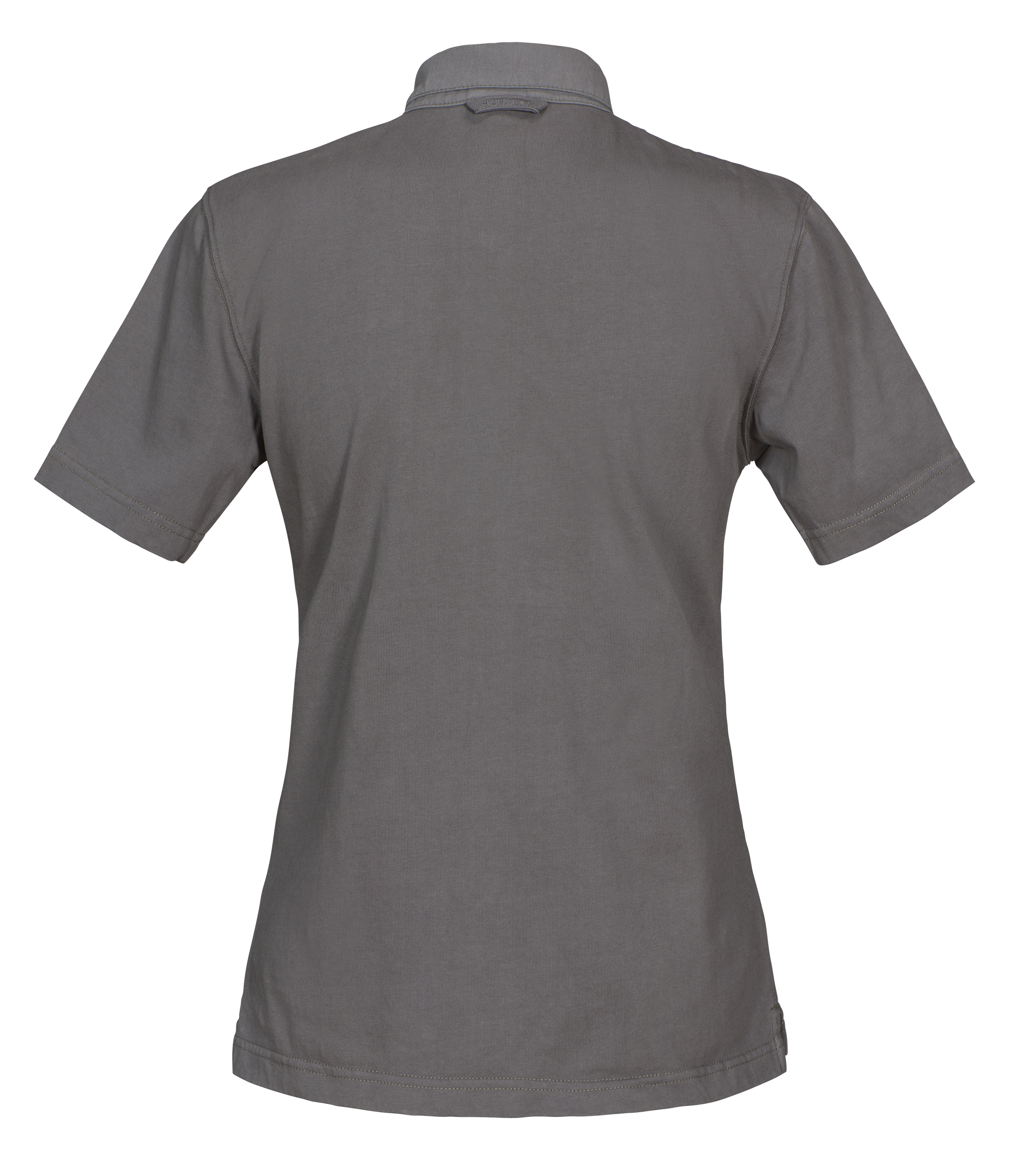 Amherst Ladies Polo in 955 Faded Grey (Back View)