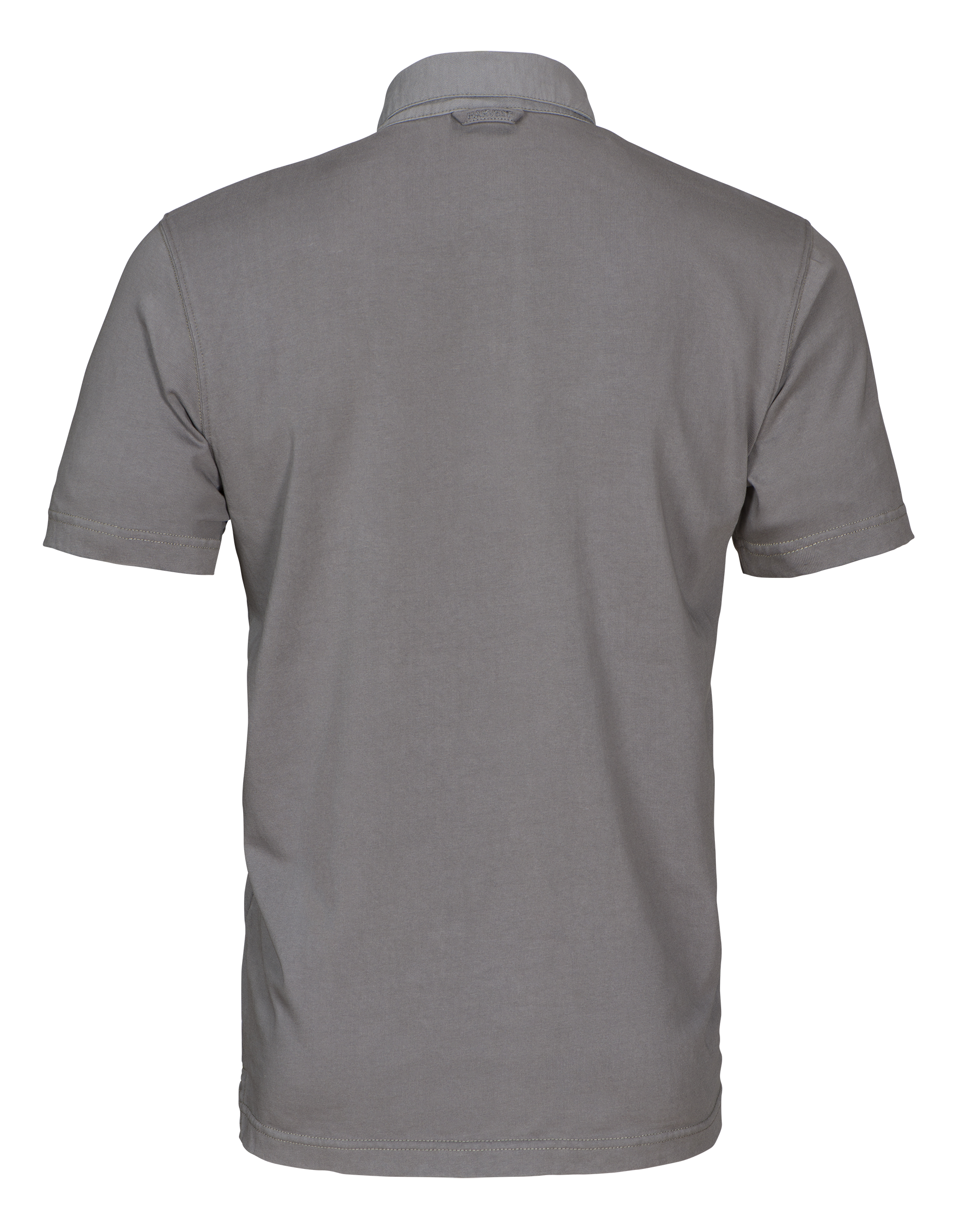 Amherst Mens Polo in 955 Faded Grey (Back View)