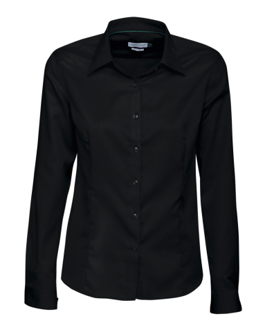 J.H and Frost Green Bow 01 Ladies Shirt in Black