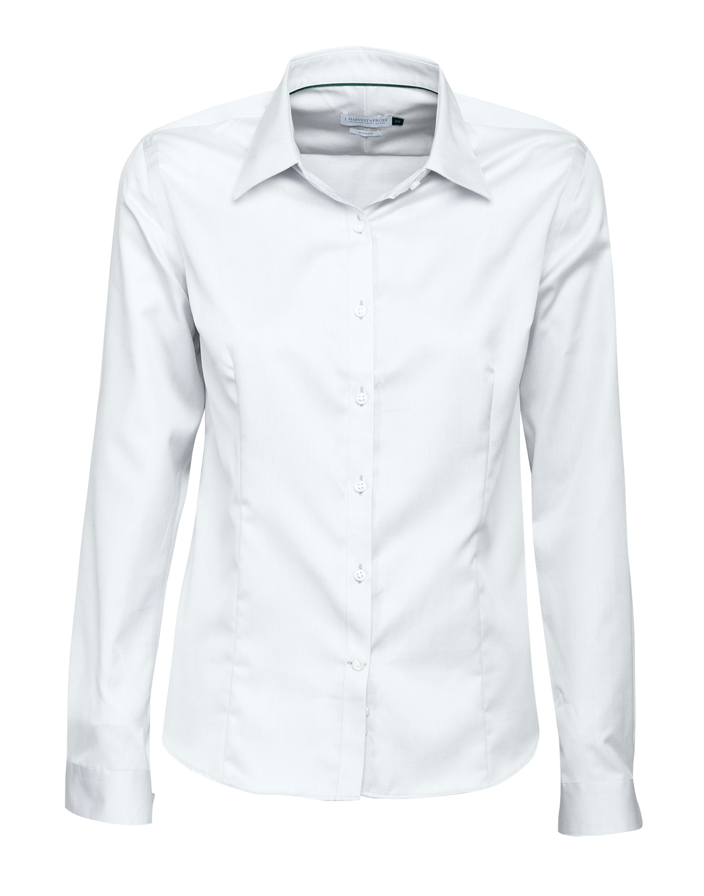 J.H and Frost Green Bow 01 Ladies Shirt in White