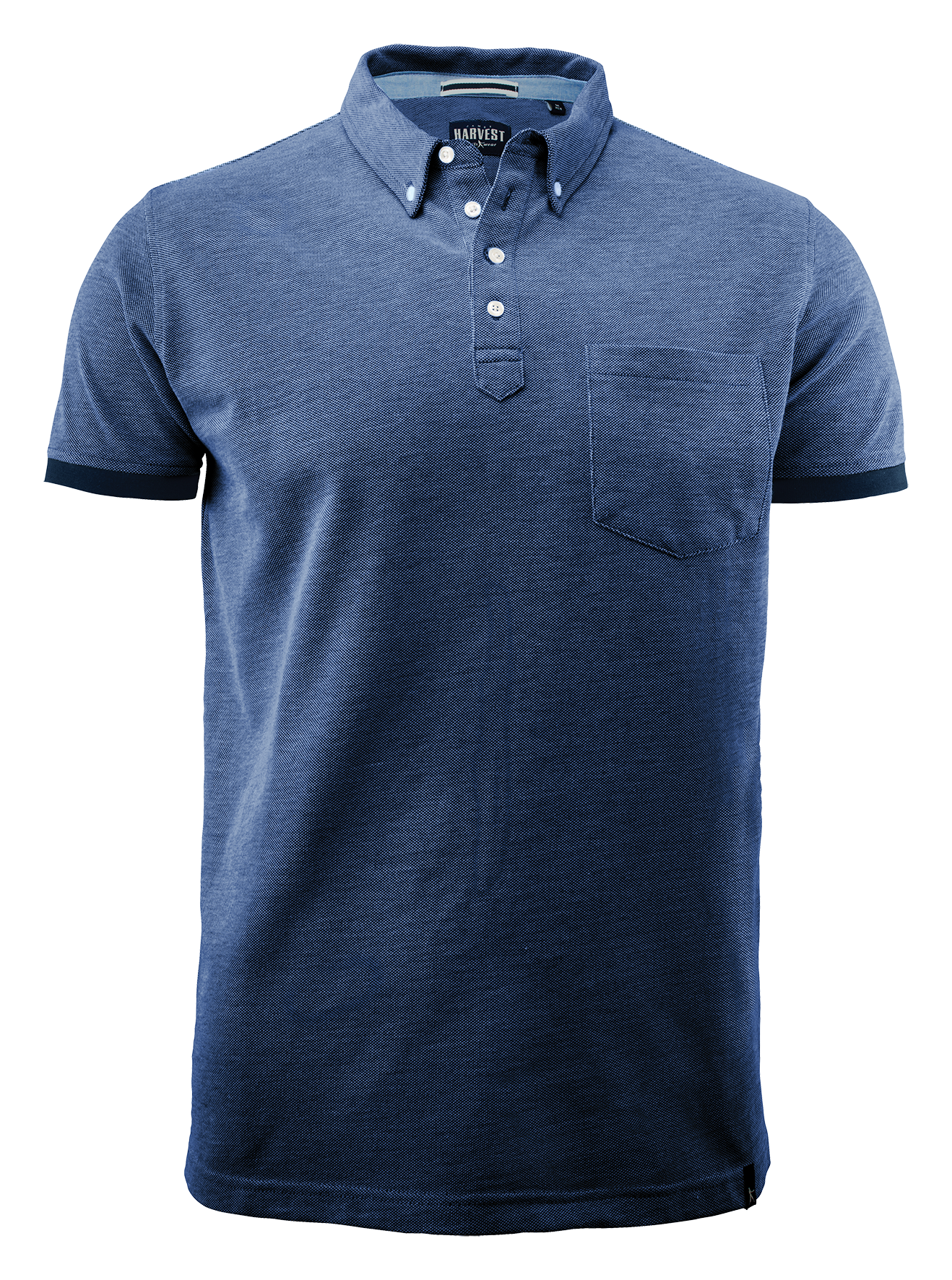 Larkford Mens Polo in Blue Melange