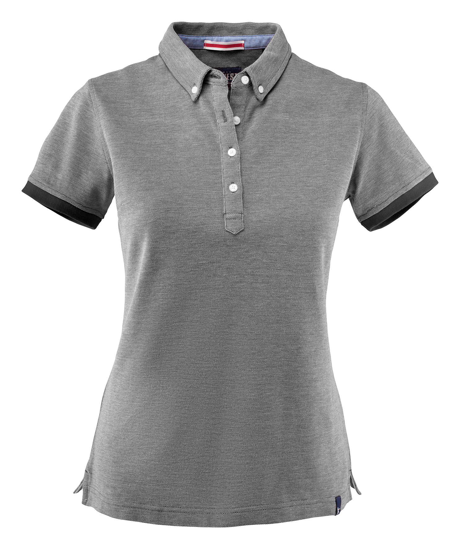 Larkford Lady Polo in Black Melange