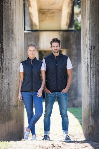 Unisex Quilted Vest with Fleece Lining