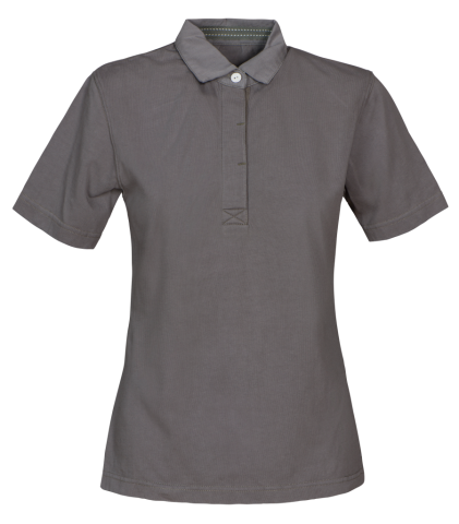 Amherst Ladies Polo in 955 Faded Grey