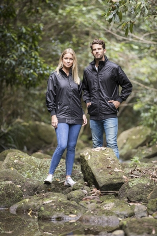 Buena Wind and Waterproof Shell Jacket in Black