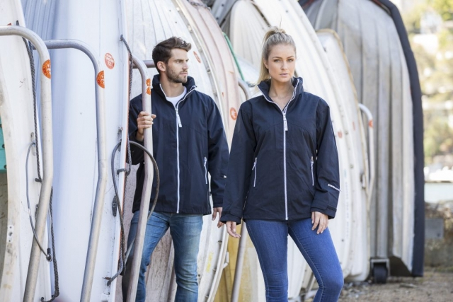 Beacon Portland Unisex Waterproof Jacket in Navy