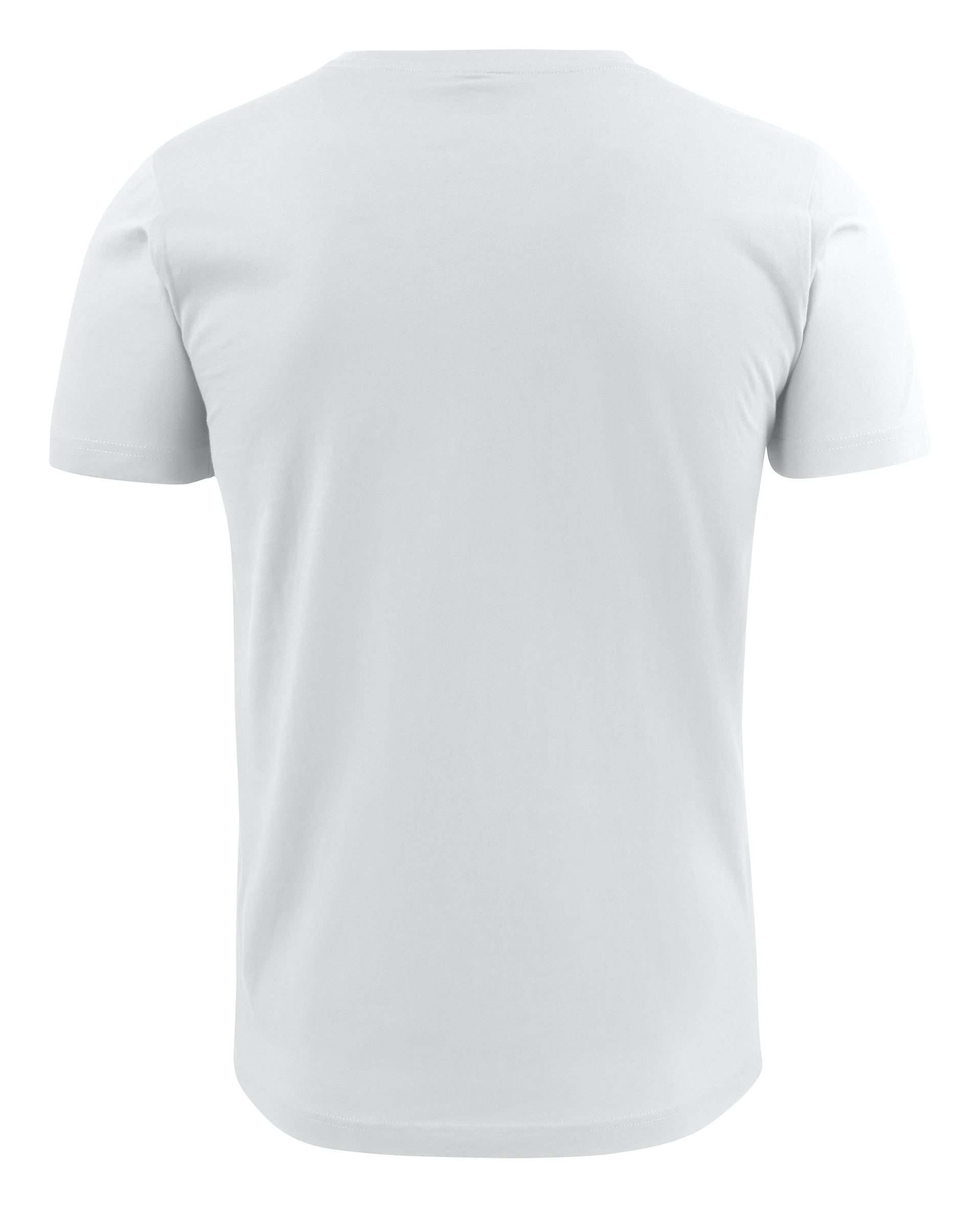 American V Mens in White (Back View)