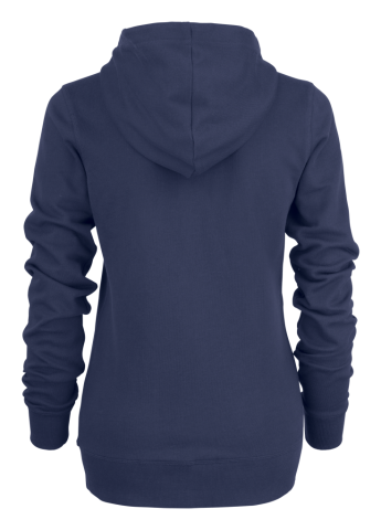 Ladies Duke Hoodie in Navy (Back view)