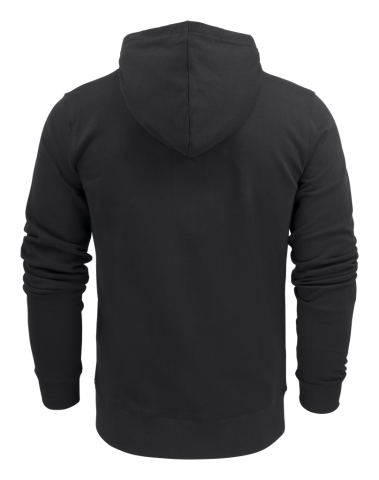 Mens Hooded Duke Jacket in 900 Black (Back View)