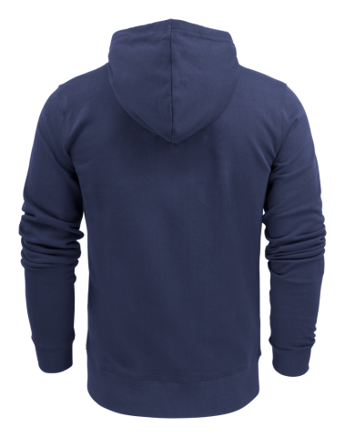 Mens Hooded Duke Jacket in 600 Navy (Back View)