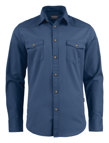 Unisex Treemore Shirt in Faded Blue