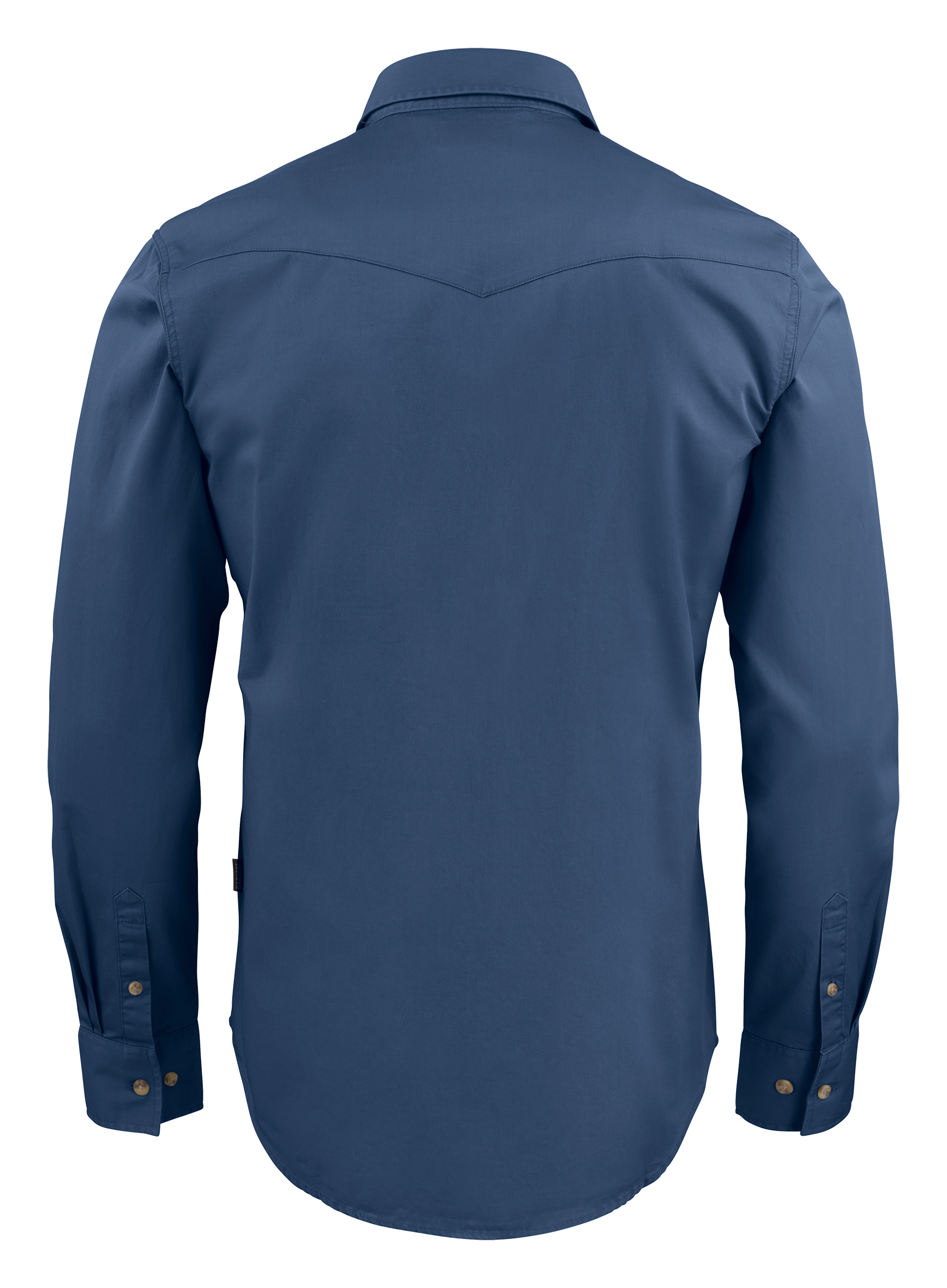 Unisex Treemore Shirt in 555 Faded Blue (Back View)