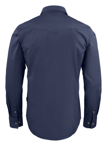 Unisex Treemore Shirt in Navy Blue (Back View)