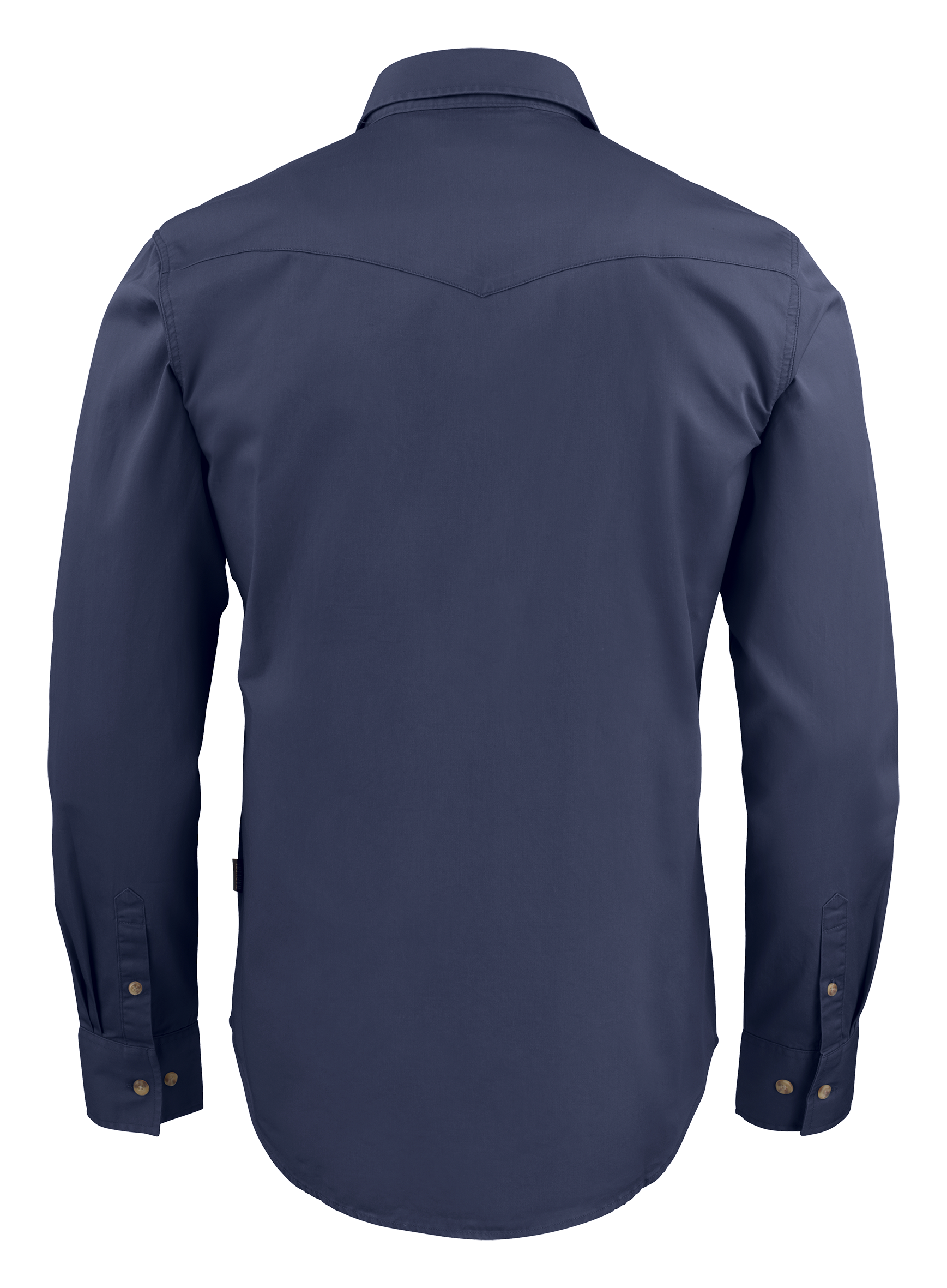Unisex Treemore Shirt in 600 Navy Blue (Back View)