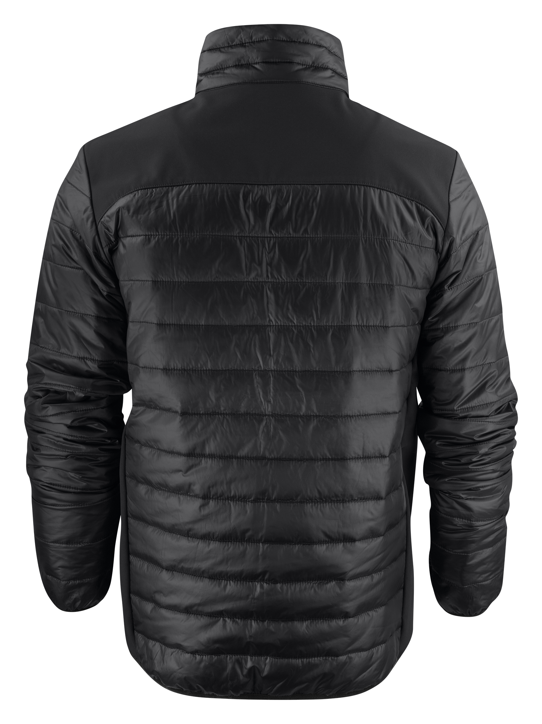 Back View: Unisex Expedition Jacket in Black