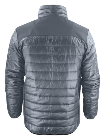Back View: Unisex Expedition Jacket in Steel Grey