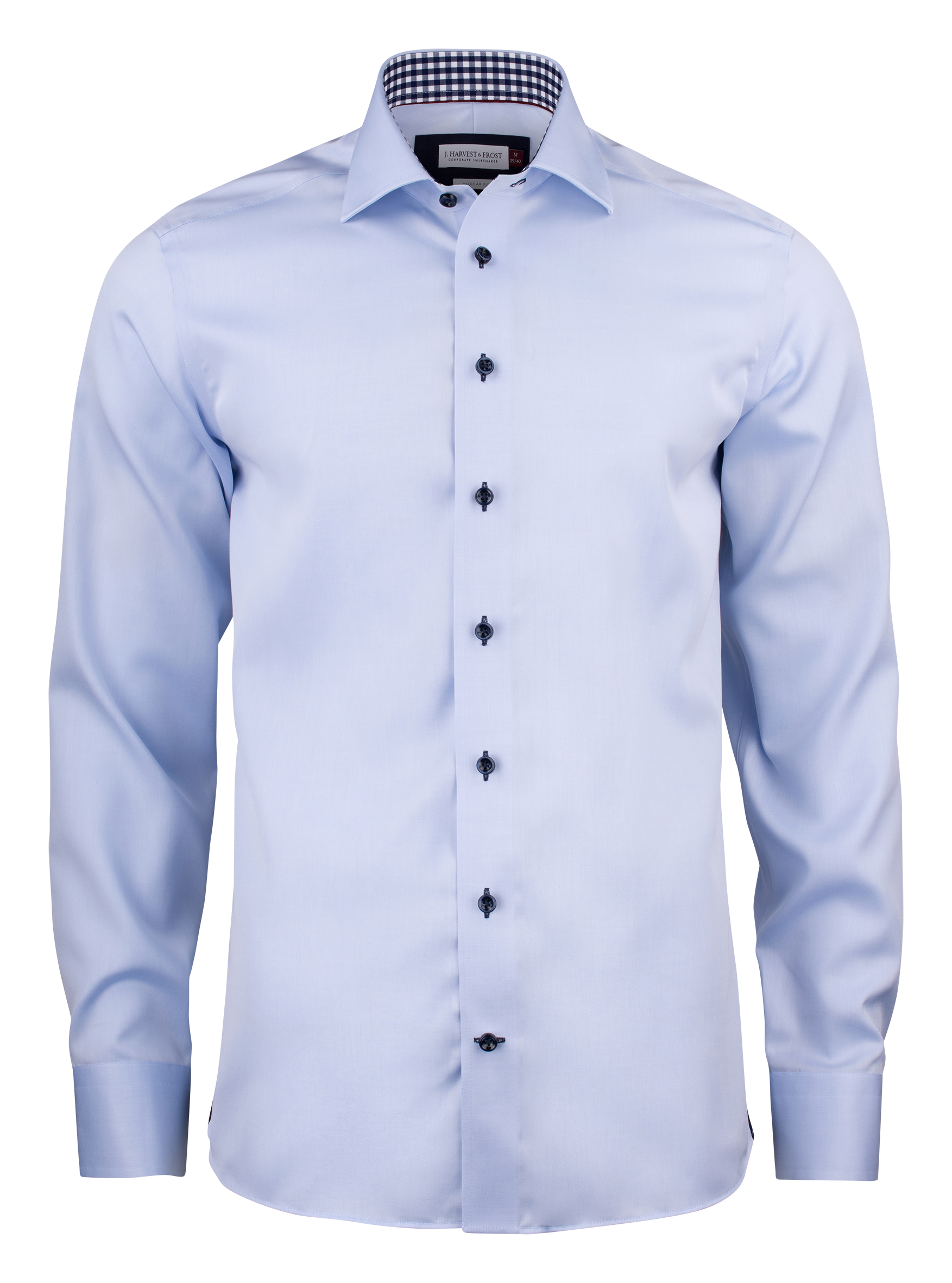 Mens' Red Bow 20 Shirt in Sky Blue with Navy Contrast